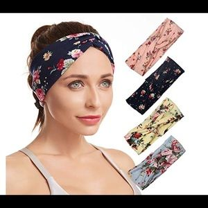 Navy Blue Floral Headband